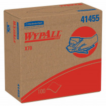 WypAll* 41455 Long Lasting Reusable Cleaning Wiper -  16.8 in W -  100 Sheets -  Hydroknit® -  White