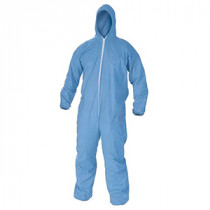 KleenGuard* 45322 Disposable Flame Resistant Coverall -  M -  38 - 40 in Chest -  30 in Inseam -  Blue -  Polyester Spun