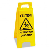 Boardwalk™ Caution sign for wet floors, A- frame, Yellow