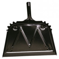 "16"" Metal Dust Pan, 20 Gauge, Black"