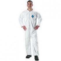 Lakeland® 07412-LG Flame Resistant Coverall 25 per CASE -  L -  44 - 46 in Chest -  29 in Inseam -  White -  Pyrolon® Plus 2