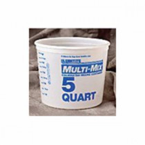 Leaktite™ 10M3 Multi-Mix Container -  5 qt -  8-5/8 in W x 7-1/8 in D -  High Density Polyethylene -  Clear