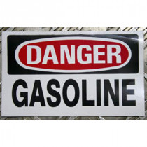 Labels -  Danger Gasoline 3 X 5 In