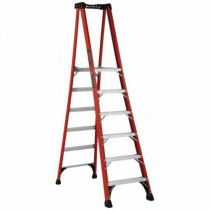 Louisville® FXP1806HD Extra Heavy-Duty Platform Stepladder -  6 ft Ladder -  375 lb Load -  5 ft 8 in x 14-1/2 in