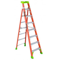 Louisville® FXS1504 Fiberglass Cross Step - Step to Shelf Ladder With Lean Green Technology