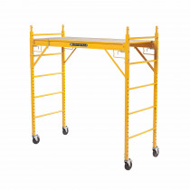 Louisville® ST0606A Rolling Scaffold Tower -  74 in L x 29-5/8 in W x 68-7/8 in H -  1000 lb Load -  Steel