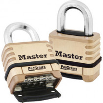 2-1/4 in Wide ProSeries® Brass Resettable Combination Padlock