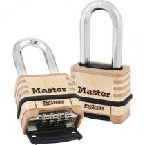 2-1/4 in Wide ProSeries® Brass Resettable Combination Padlock w/ 2-1/16 in Shackle