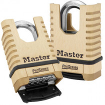 2-1/4 in Wide ProSeries® Shrouded Brass Resettable Combination Padlock