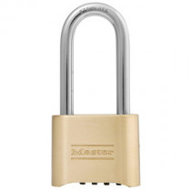 2 in Wide Resettable Combination Brass Padlock w/ 2-1/4 in Stainless Steel Shackle