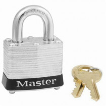 Laminated Steel Safety Padlock, 3/4 in Tall Shackle
