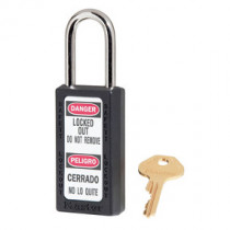 Zenex™ Thermoplastic Safety Padlock, 1-1/2 in Wide w/ 1-1/2 in Shackle