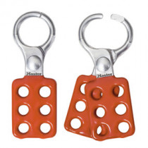 Aluminum Lockout Hasp, 1 in Jaw Clearance