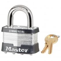 Master Lock® 5KA-A115 Commercial Grade Non-Rekeyable Safety Padlock -  Keyed Alike -  3/8 in Shackle -  4-Pin Tumbler Locking
