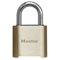 Master Lock® 2 in Wide Resettable Combination Brass Padlock