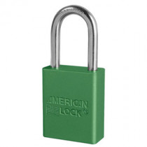 American Lock® Green Anodized Aluminum Safety Padlock