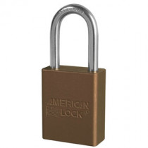 American Lock® A1106KA Anodized Aluminum Safety Padlock, Brown