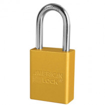 American Lock® A1106YLW Anodized Aluminum Safety Padlock, Yellow
