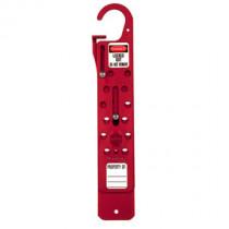"Master Lock® Anodized Aluminum 12-hold Sliding Hasp, 1"" (25mm) Jaw Clearance"
