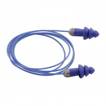 Moldex® 6415 Corded Multiple Use Reusable Ear Plug -  Flanged -  27 dB -  Blue Plug