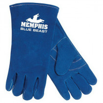 Memphis 4600 Blue Beast® Premium Grade Welding Gloves -  XL -  Leather Palm -  Blue -  Standard Finger -  Wing Thumb