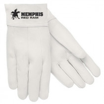 Memphis 4912 Premium Grade Welding Gloves -  3XL -  Leather Palm -  White -  Clute Cut -  Standard Finger -  Straight Thumb