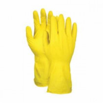 Memphis 5212Y Industrial Grade Unsupported Chemical Resistant Gloves -  XL -  Latex Palm -  Yellow -  12 mil Latex