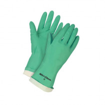 Memphis 5317 Industrial Grade Unsupported Chemical Resistant Gloves With Black Logo -  S -  Nitrile Palm -  Green -  Nitrile