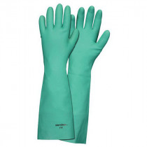 Memphis 5350 Nitri-Chem™ Industrial Grade Unsupported Chemical Resistant Gloves With Black Logo -  XL -  Nitrile Palm -  Green