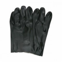 Memphis 6521S Double Dipped Industrial Grade Supported Coated Gloves -  L -  PVC Palm -  Black/White -  PVC