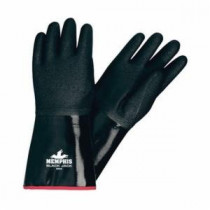 Memphis 6944 Black Jack® Industrial Grade Multi-Dipped Coated Gloves -  L -  Neoprene Palm -  Black/White -  Neoprene
