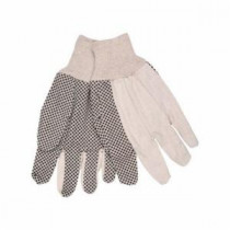 Memphis 8802 Ladies Regular Weight Canvas Gloves -  S -  Natural -  Clute Pattern -  Standard Finger -  Straight Thumb