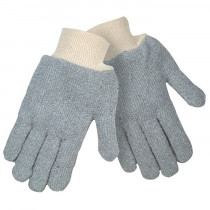 Memphis 9420KM High Performance Regular Weight String Knit Gloves -  L -  Gray -  7 ga 22 oz Cotton Polyester