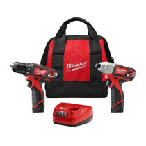 "M12™ 2-Tool Combo Kit: 3/8"" Drill/Driver and 1/4"" Hex Impact Driver"
