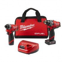 "M12 FUEL™ 2-Tool Combo Kit: 1/2"" Hammer Drill and 1/4"" Hex Impact Driver"