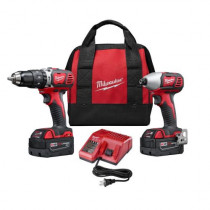 Milwaukee® M18™ Cordless Combination Kit -  6 Pieces -  Red/Black/Gray (Kit)