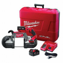 Milwaukee® M18 FUEL™ Cordless Band Saw Kit -  5 in Cutting -  44-7/8 in L x 1/2 in W x 0.02 in THK Blade -  18 V -  5 Ah (Kit)