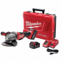 Milwaukee® M18 FUEL™ Cordless Grinder Kit -  5 in Wheel -  5/8-11 -  18 V -  Li-Ion Battery -  Red (Kit)