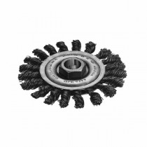 Milwaukee® 48-52-5030 Wheel Brush -  4 in Dia -  5/8-11 -  0.02 - 0.023 in Full Cable Twisted Knotted Wire