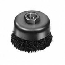 Milwaukee® 48-52-5060 Light Duty Cup Brush -  3 in Dia -  5/8-11 -  0.012 in Carbon Steel Crimped Wire