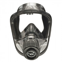MSA 10083802 Full Face Respirator With Nosecup -  L -  Rubber Head Harness