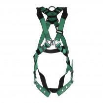 MSA® (10197160) Full Body Safety Harness, Back D-Ring, TB Leg Straps