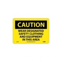 Sign -  7x10 -  Caution PPE Required