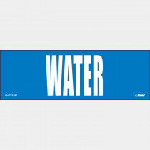 Label -  2x6  Blue  WATER