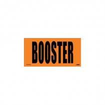 Label -  3x6 Orange  BOOSTER