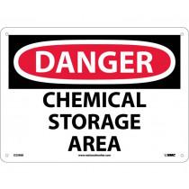 National Marker National Marker Company Sign, Danger Chemical Storage Area