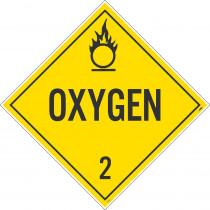 National Marker National Marker Company Dot Placard -- Oxygen   2