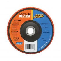 Norton® Blaze® 66254498101 Quick-Change Type 27 Non-Woven Depressed Center Disc -  4-1/2 in Dia -  5/8-11 -  60 Grit