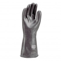 North® by Honeywell B324R-10 Unsupported Chemical Resistant Gloves 10 per XL -  SZ 10 -  Grip Saf Palm -  Black -  Butyl