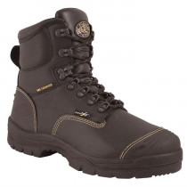 "Oliver by Honeywell 55246 6"" Leather Work Boots, Steel Toe, Black"
